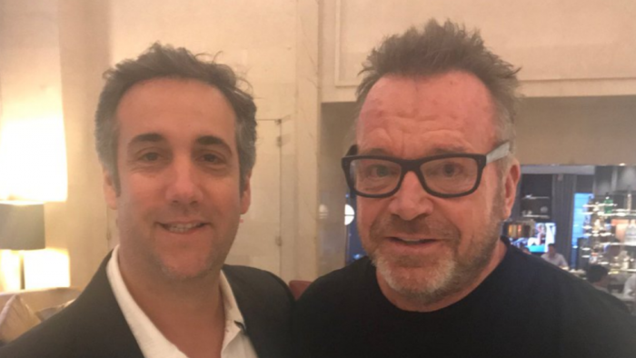 Michael Cohen Denies Tom Arnold's Claim of Teaming Up to 'Take Down Trump' (Video)