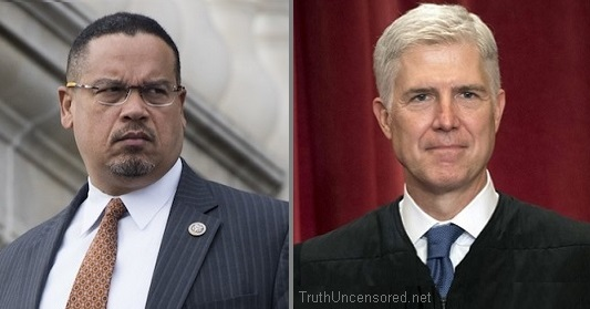 Travel Ban: Democrat Keith Ellison Suggests Justice Neil Gorsuch Was Bribed