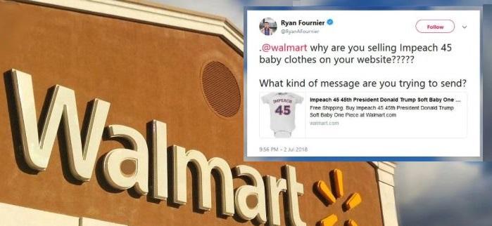 Walmart's 'Impeach 45' Apparel Causes Social Media Outcry, Calls For Boycott of Retail Giant