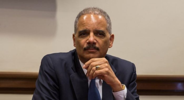 "Eric Holder Says He's ""Thinking About"" Running for President in 2020 (Video)"