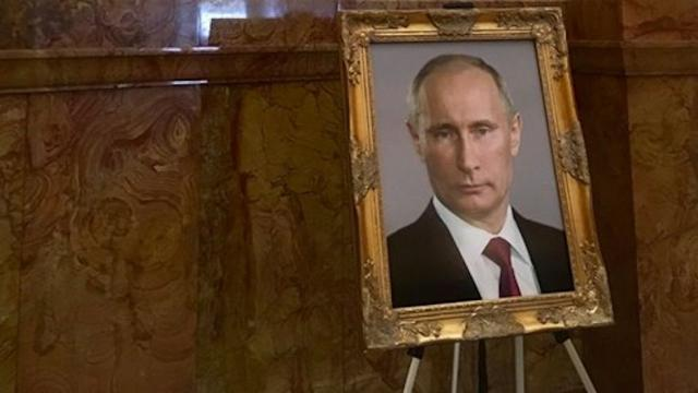 Putin Portrait Briefly Appeared in Colorado Capitol Where Trump's One Still Missing