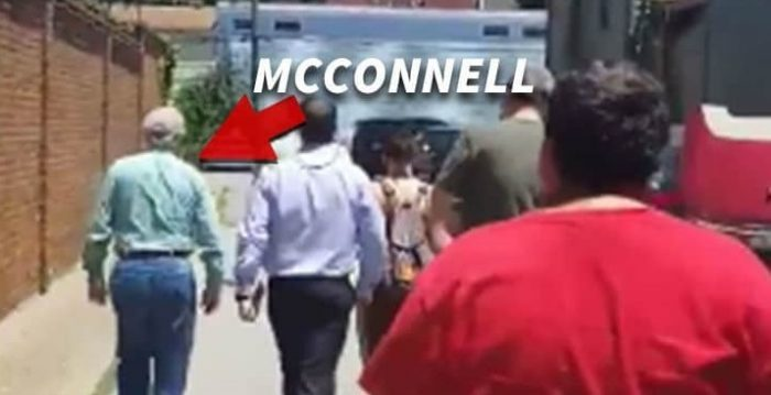 Mitch McConnell Confronted by 'Abolish ICE' Protesters, 'We Know Where You Live!' (Video)