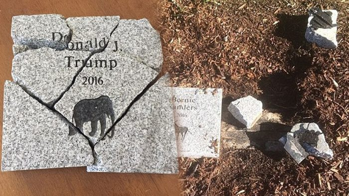 Granite Block Honoring Donald Trump's NH Primary Win Vandalized (Video)
