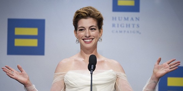 Actress Anne Hathaway Calls For the Destruction of 'White Privilege' (Video)