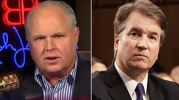 Rush Limbaugh Warns GOP: Confirm Kavanaugh or Kiss the Midterms Goodbye