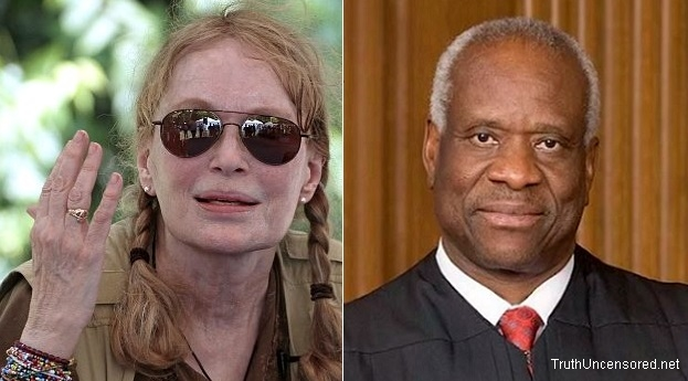 Mia Farrow Calls for Supreme Court Justice Clarence Thomas to Resign