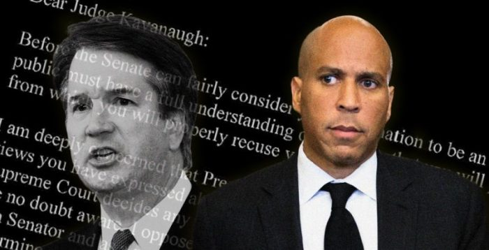 "Cory Booker: Kavanaugh is Disqualified, ""Whether He's Innocent or Guilty"" (Video)"