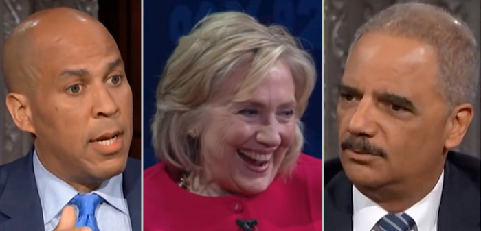 """Hillary Clinton Jokes, """"They All Look Alike"""" When Interviewer Mixes Up Black Democrats (Video)"""
