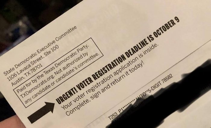 Texas Democrats Sent Noncitizens 'Altered' Registration Forms Encouraging Them to Vote