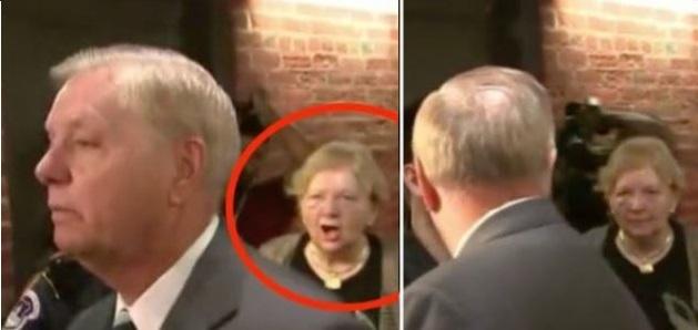 Lindsey Graham Snaps at Protester Demanding Kavanaugh Take a Polygraph (Video)