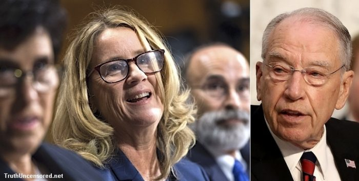 Grassley on the Warpath: Demands Ford's 'Evidence' Be Handed Over