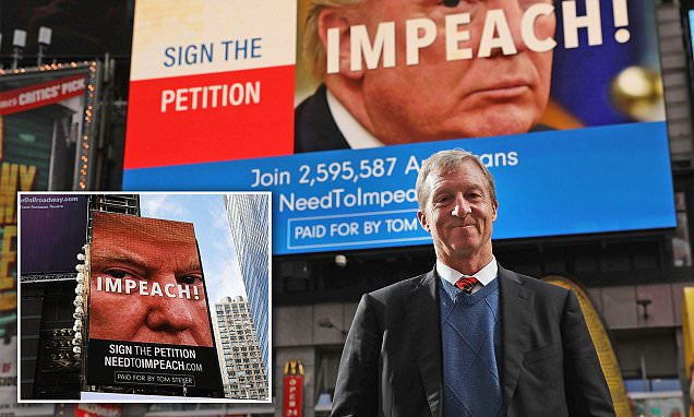 'Impeach Trump' Billionaire Tom Steyer Prepares to Launch Presidential Bid