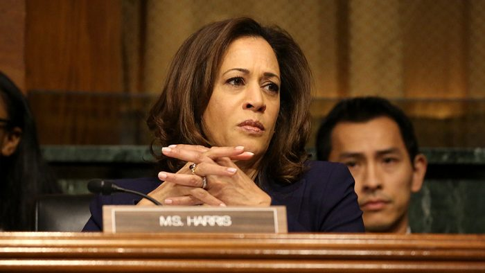 Kamala Harris Grills Trump Nominee to Lead ICE, Compares Agency to the KKK (Video)