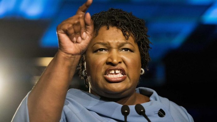 "Democrats: Republicans ""Stole"" Georgia Election From Stacy Abrams (Video)"