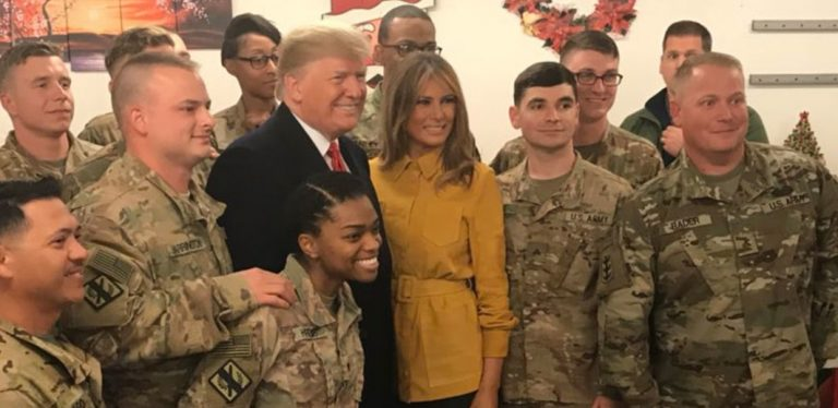 Fake News: NBC Falsely Claims President Trump Did Not Visit Troops at 'Christmastime' (Video)