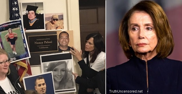 Angel Families Stormed Pelosi's Office With Demands For Border Security: 'Build That Wall!' (Video)
