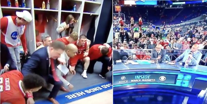 CBS Camera Cuts Away From Texas Tech Locker Room When They Start Praying (Video)