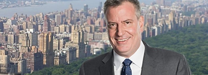 Mayor de Blasio: 'We're Going to Ban Glass and Steel Skyscrapers' for Green New Deal (Video)