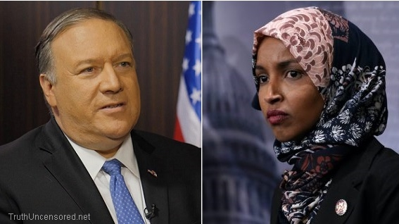 "Pompeo: Ilhan Omar's Venezuela Comments Were ""Ignorant"" And ""Disgusting"" (Video)"