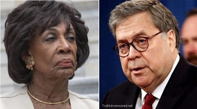 Maxine Waters: William Barr Should Resign or Face Impeachment (Video)