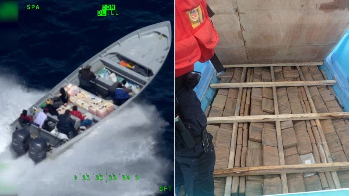 Coast Guard chase drug smugglers throwing millions in cocaine into ocean (Video)