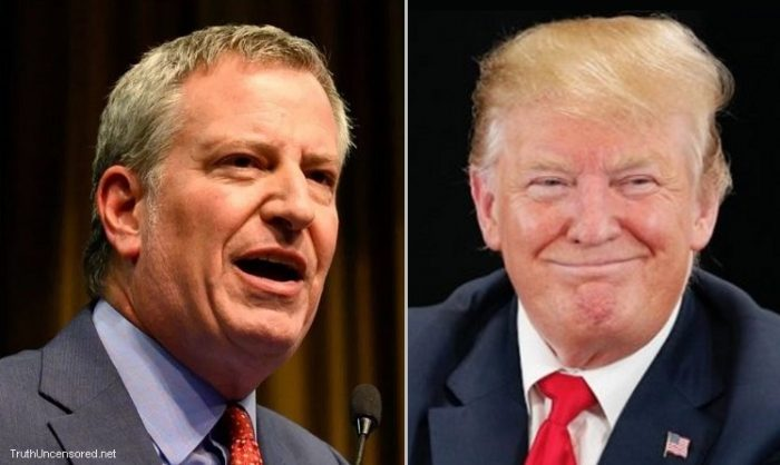 Bill de Blasio: Trump 'Will Not Be Welcome Back In New York City' After Presidency