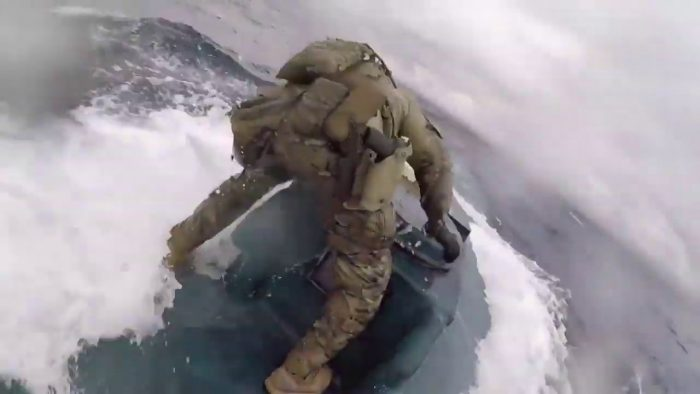 Dramatic Video: US Coast Guardsman Jumps Onto Moving Narco-Sub In $569M Drug Bust