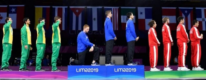 US Gold Medalist Faces Disciplinary Action For Taking Knee During National Anthem