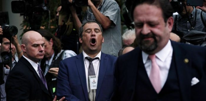 White House pulls press pass from CNN contributor who yelled at Gorka in Rose Garden