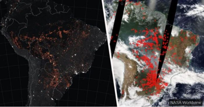 NASA Images From Space Show Just How Bad Amazon Fires Have Become