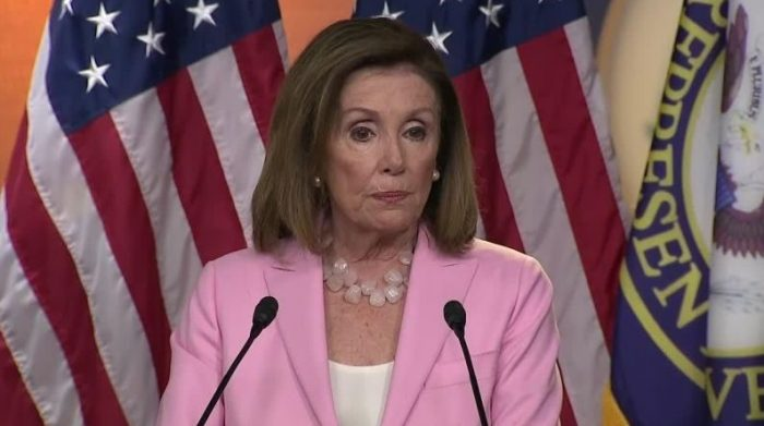 """Nancy Pelosi walks out on press: """"I'm done talking about impeachment"""" (Video)"""