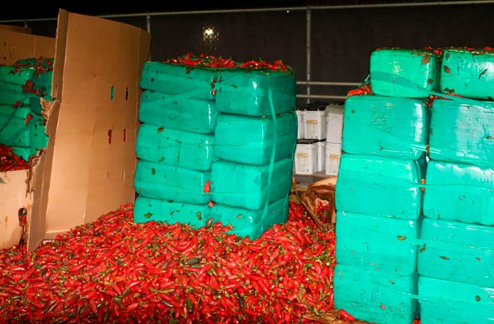 Border patrol agents find nearly four tons of marijuana concealed in jalapeño peppers