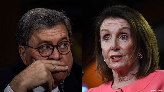 "Nancy Pelosi: Attorney General Barr ""has gone rogue,"" alleges a ""cover-up of the cover-up"" (Video)"