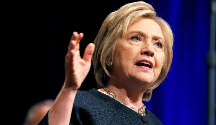 Hillary lays out reasons for 'impeachment of Trump' and receives standing ovation