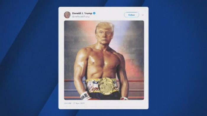 Trump Tweets Photo Of Himself As 'Rocky' Ahead Of Impeachment Hearings