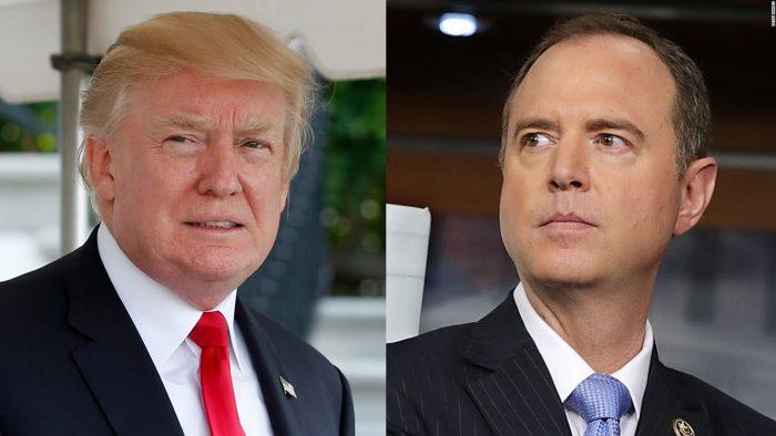 Trump Tears Into Rep. Adam Schiff, Calls Him 'Deranged Human Being' And A 'Liar'