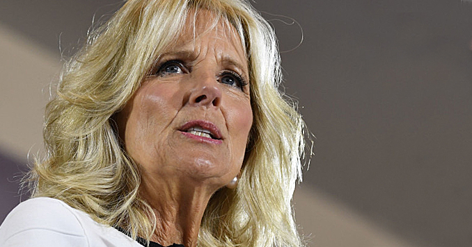 Jill Biden Hands Out Christmas Gifts at Mexico Border Migrant Camp