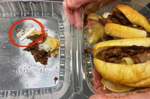 New York Police Officer Bites Into Sandwich With A Razor Blade Stuffed In Between